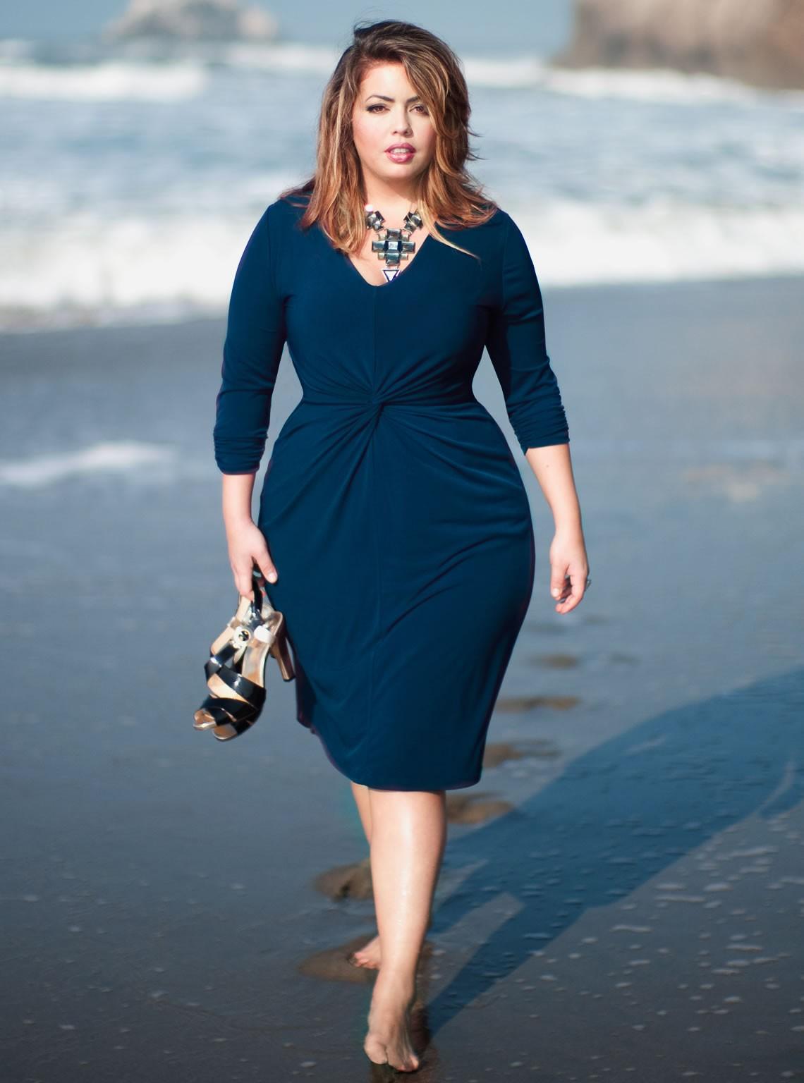 Plus-Size-Forget-Me-Not-Career-Dress - Greek American Girl