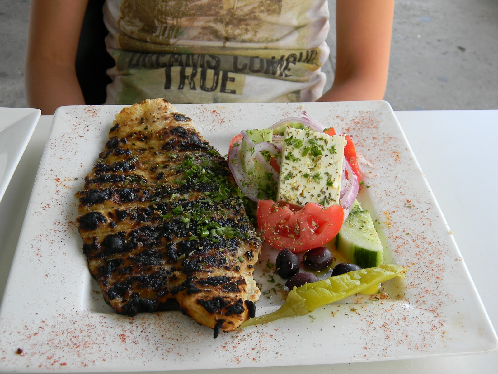 greek-salad-and-grilled-fish