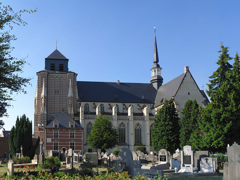 The Cathedral dedicated to St Dymphna in Geel, Belgium modern day