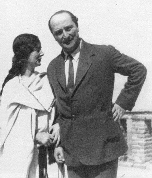 Eva Palmer and Angelos Sikelianos in Greece