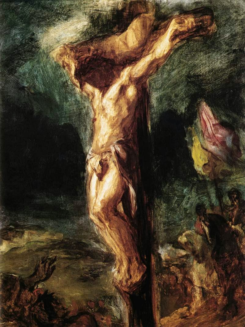 12-sketch-of-christ-on-the-cross-eugc3a8ne-delacroix