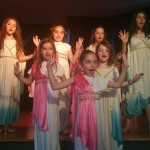 traditional choral hand gestures still in use by 21st century 3rd generation Greek American children
