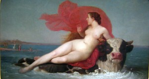 Rape of Europa by Louis Frederic Schuetzenberger 1825-1905, French
