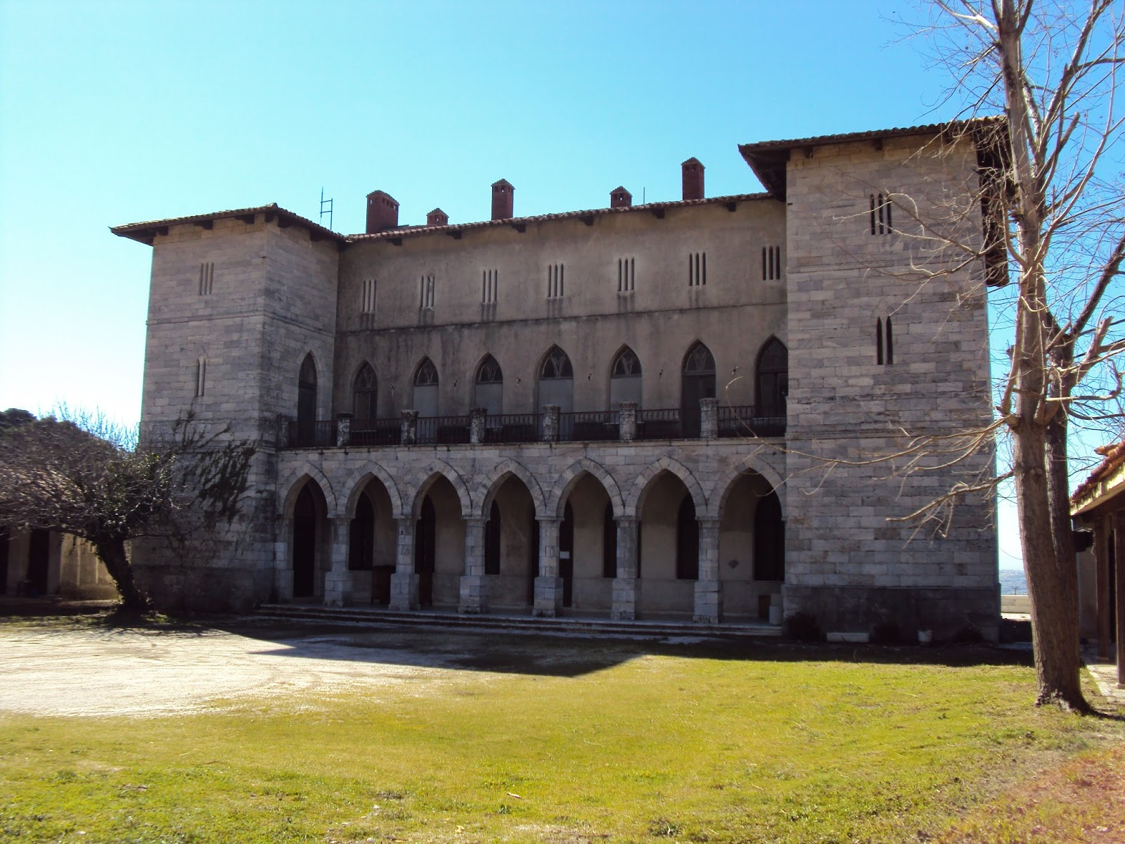 The Palace of the Duchess on the slopes of Penteli