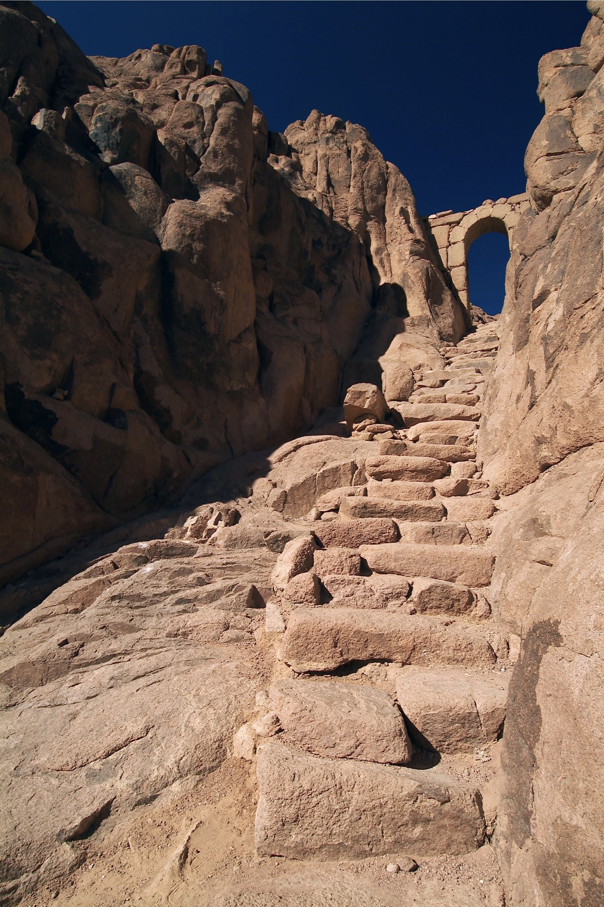 Steps to the Holy Summit of Sinai