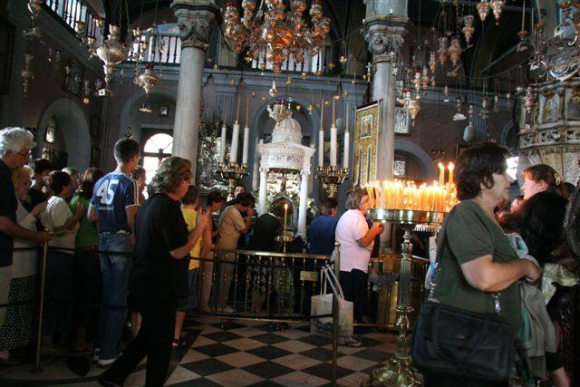 Inside the sanctuary during the overcrowded season of August