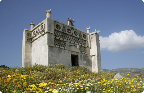 "A typical ""peristerona"" or dove house unique to the island of Tinos"