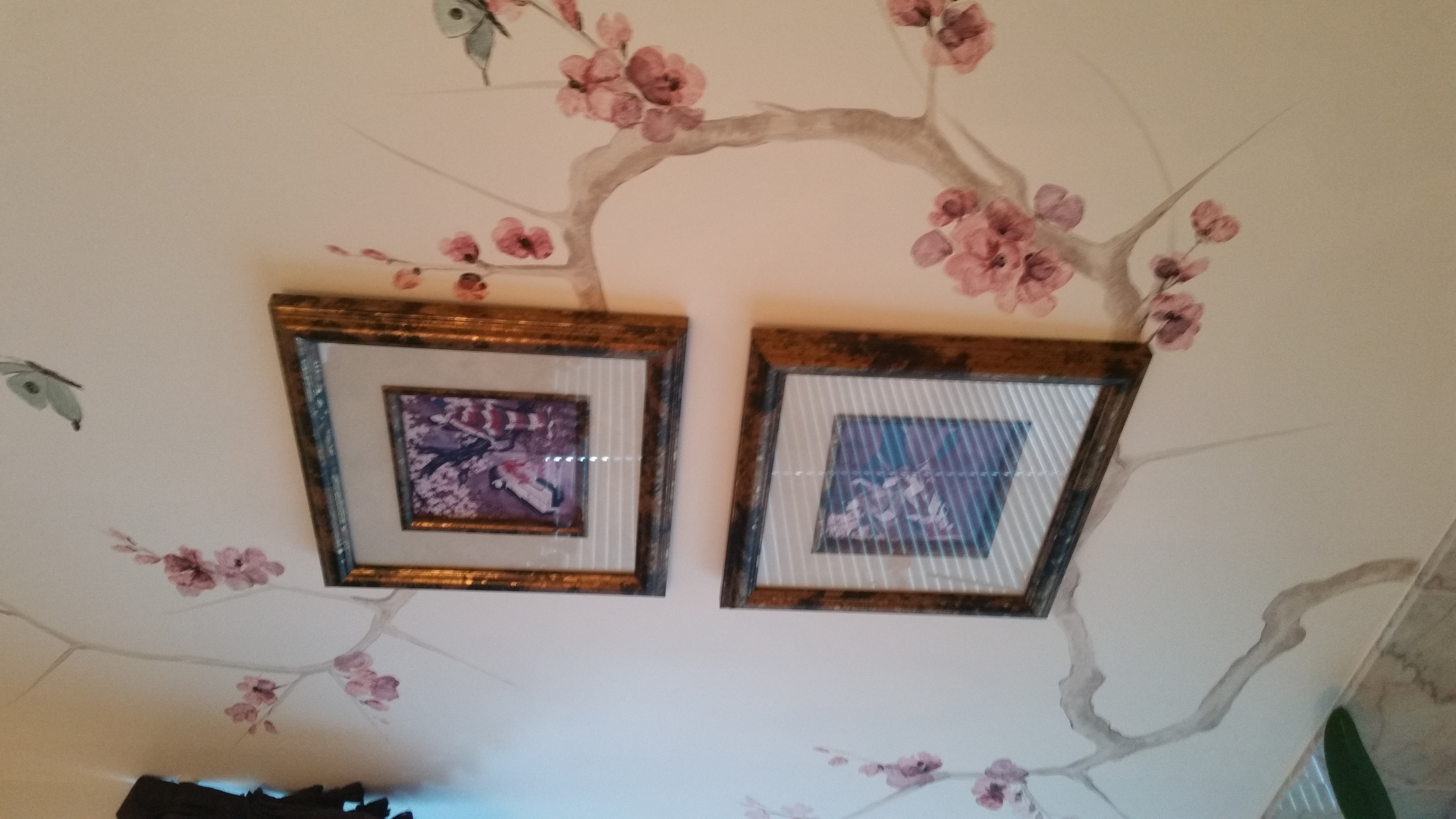 Painted branches bring a breath of spring into a home, especially important for lightening up mood during the long bleak winter