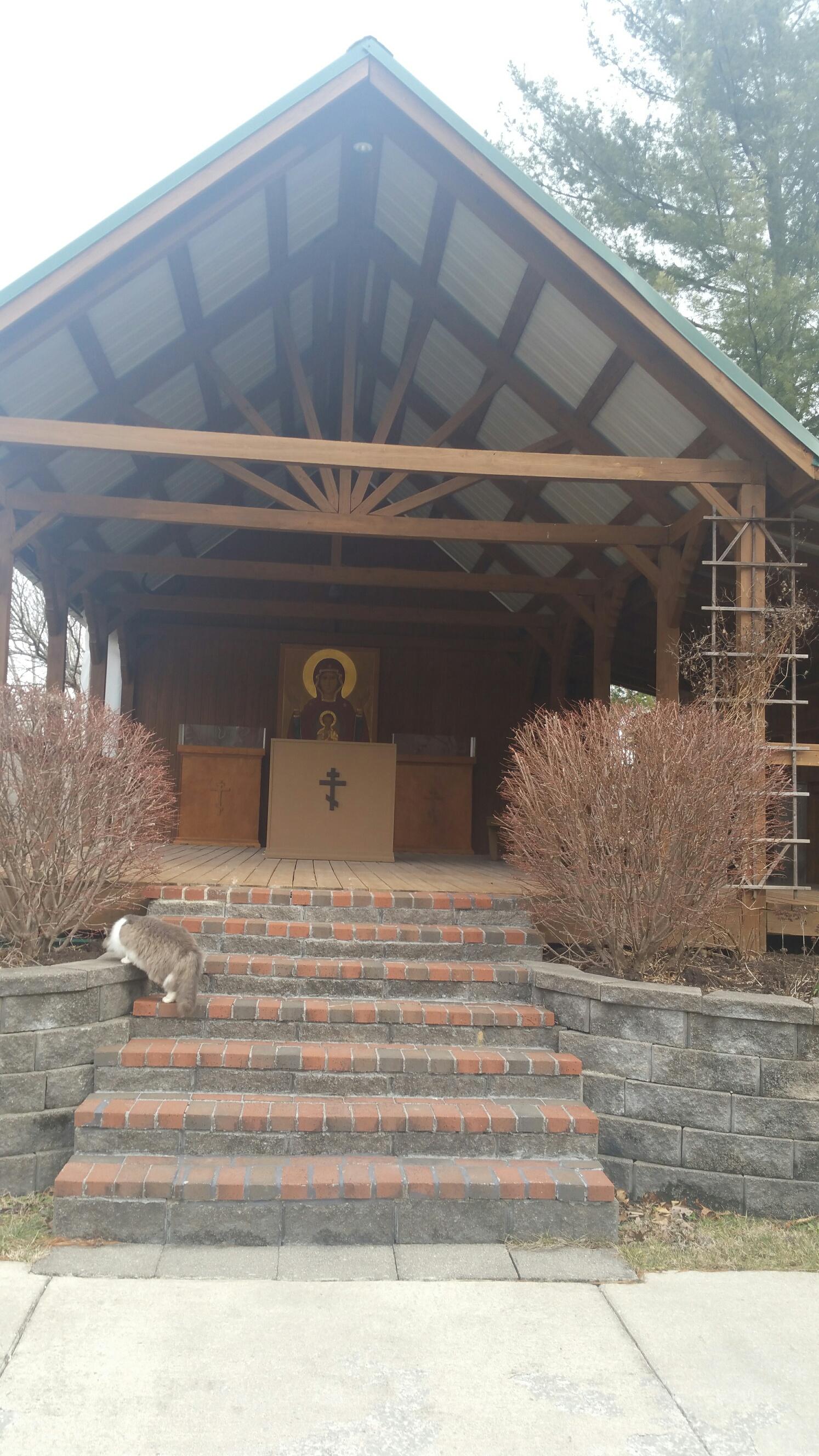 An outdoor chapel
