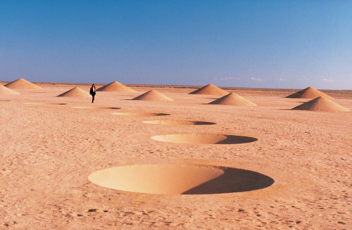 Three Greek female artists collaborated to create a land installation in the Red Sea. The desert is a trope that has inspired many artists not just monastics.