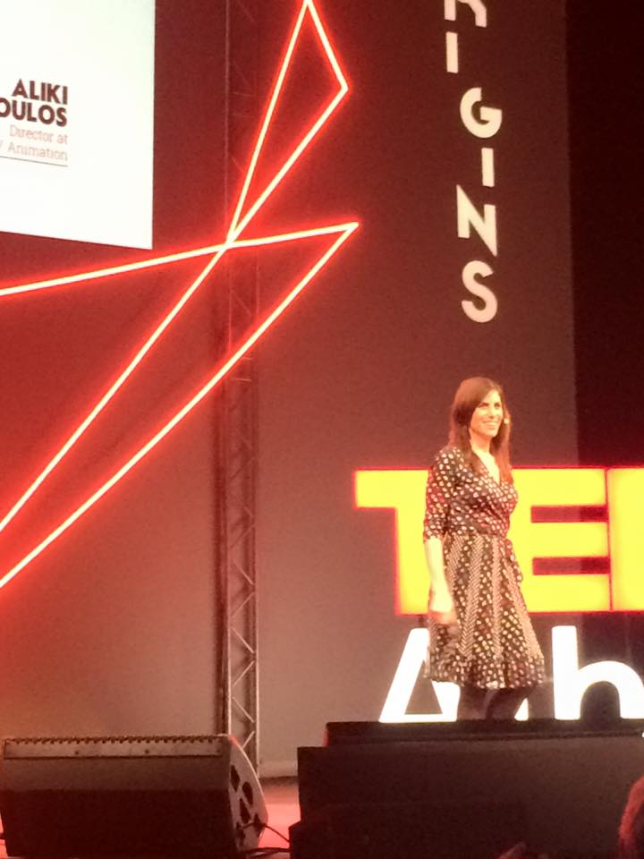 On stage in Athens for the wildly inspiring TEDTalk about living life authentically