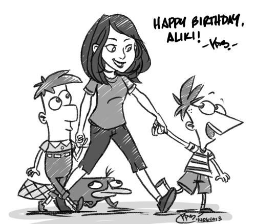 When the little people you created come out to wish you a happy birthday
