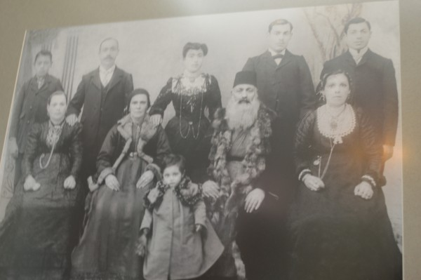 A Romaniote Greek Jewish portrait in the woman's gallery acting as a museum for the Greek Jewish community of the Lower East Side with strong ties to Ioannina in Northern Greece.