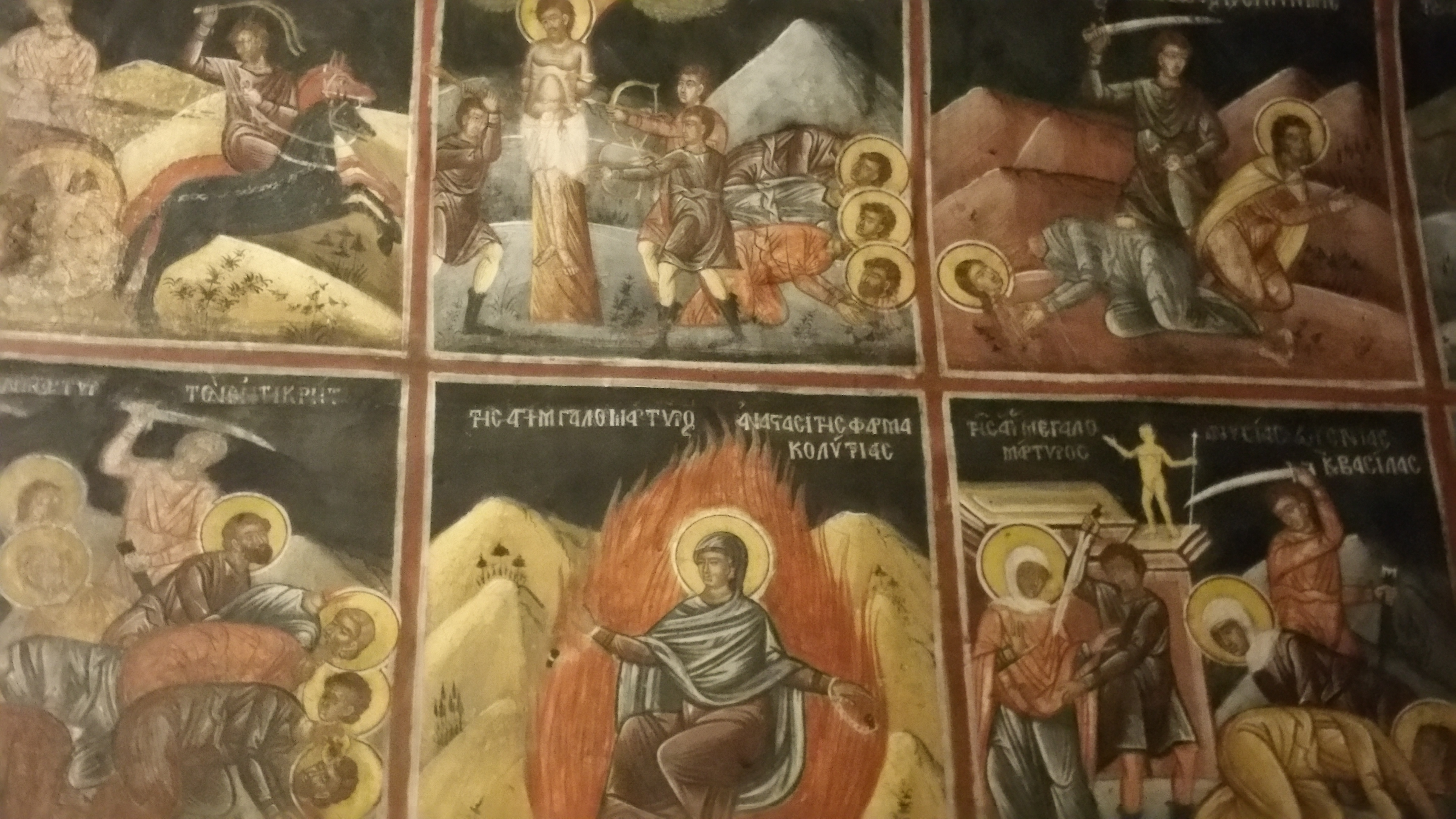 The Martyrdom of from the  monastery of the Annunciation of the Theotokos, Penteli