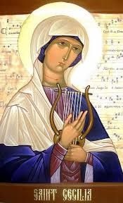 St Cecilia, the patron saint of music, sang to the Lord in her heart on her wedding day. She keeps her inner harmony even when presented with circumstances against her heart.