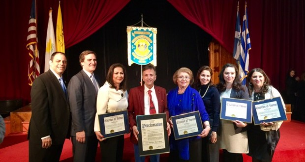 Four honorees at 196th annual celebration of Greek Independence sponsored by Senator Michael Giannaris and Queensborough President Melinda Katz