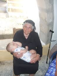 giagia and granddaughter