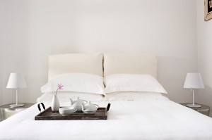 one of the typical suites of Liostasis, one of the boutique hotels in Ios