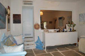 living room of Cycladic vilage home