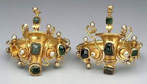 Elaborate pair of bracelets worn on each arm in line with Persian tradition