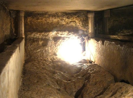 The empty tomb of the Holy Virgin in Jerusalem