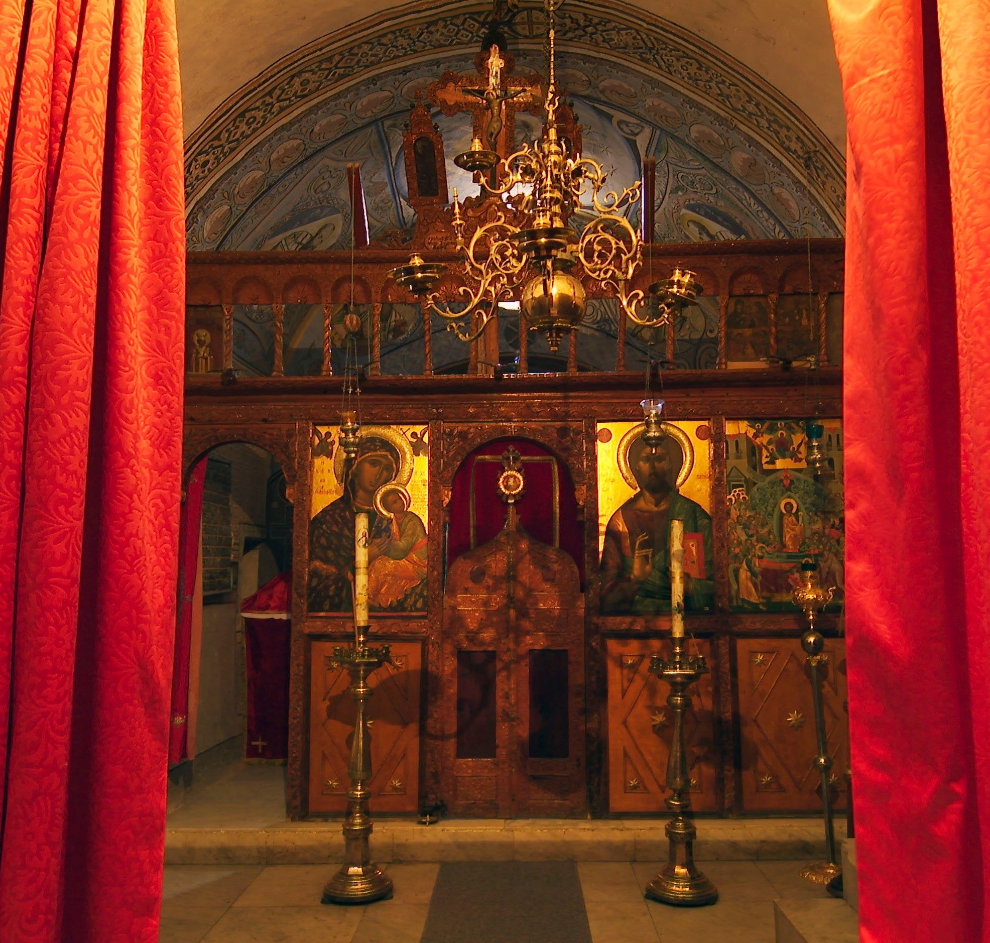 The private chapel of the Archbishop and Abbot of Sinai is dedicated to the Dormition of the Theotokos.
