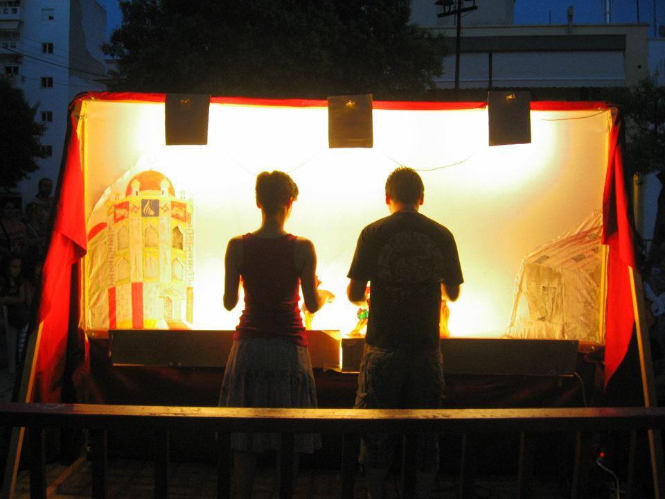 Dimitris Karoglu and partner Monika Furlan  behind the shadows