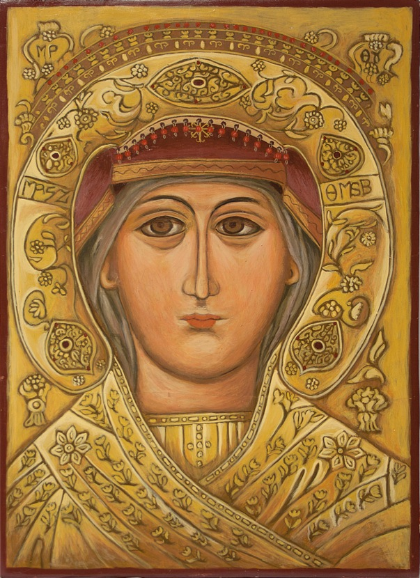 Commissioned Painting of Panagia Eikonistri (to be gifted to St. Spyridon Greek Orthodox Church by the Cultural Association of Skiathos.)
