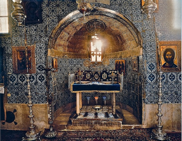 "The altar of the ""Holy of Holies"" of St. Catherine's Monastery is placed directly over the roots of the Burning Bush, which still thrives outside the chapel.   (Bruce M. White Photography)"