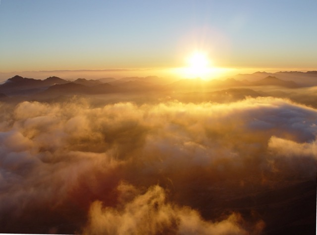 Viewing the sunrise from the Holy Summit of Sinai has been likened to seeing the creation of the world.