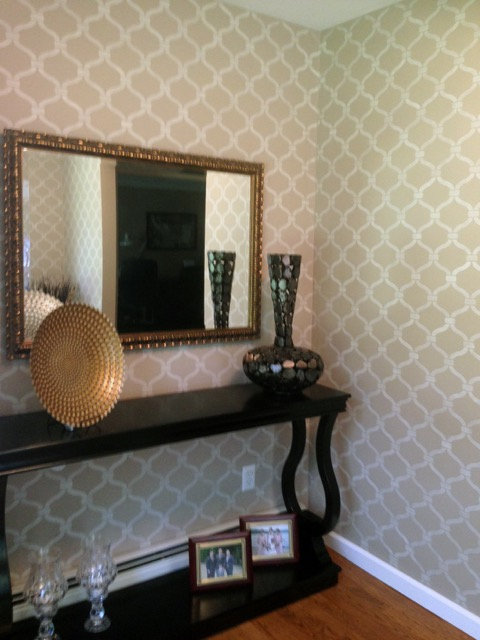 Stenciled entrance way in one of Kathy Burbaris' home