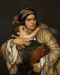 "Greek Mother , Cesare dell""Acqua - 1860"