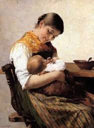Mother and Child, Georgios Iakovidis (1853 – 1932, Greek
