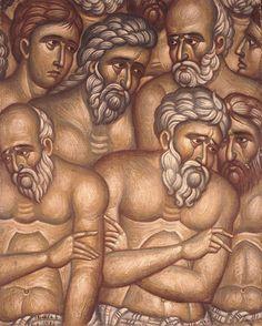 A detail from the 40 Martyrs of Sebaste, Fotis Kontoglou iconographer