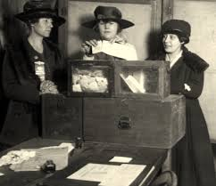 Greek women casting their ballots for the first time in the 1950s.