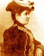 An old photo of Kalliroi Siganou-Parren that appeared in the press when she was undergoing a letter war defending a woman's right to work and education