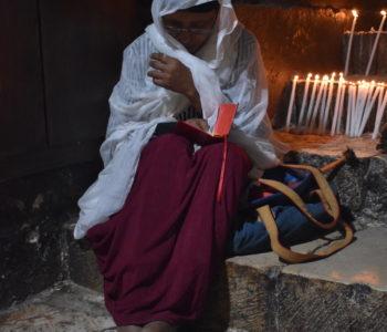 Coptic woman at prayer
